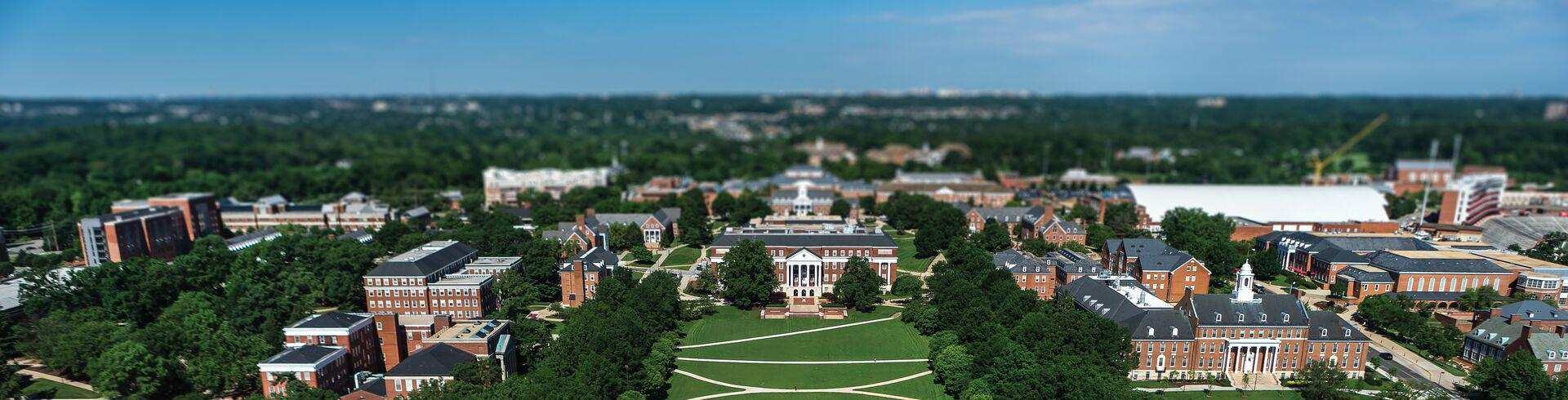UMD Campus from above